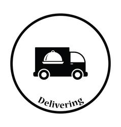 Delivering car icon vector image vector image