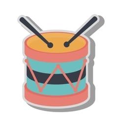 Drum kit toy icon vector