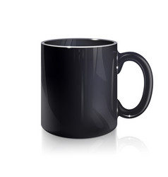 Empty black mug vector