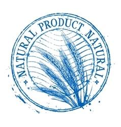 Food logo design template wheat or bread vector