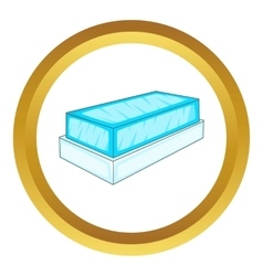 Glass showcase icon vector