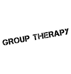 Group Therapy black rubber stamp on white vector