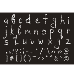 hand written chalk lowercase english alphabet vector image