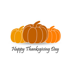 Happy thanksgiving day pumpkin with shadow vector