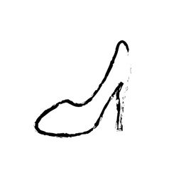 Heel woman fashion vector image