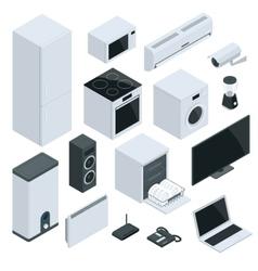 Home Appliances Icon Set vector