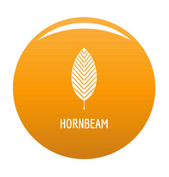 hornbeam leaf icon orange vector image