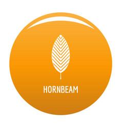 hornbeam leaf icon orange vector image
