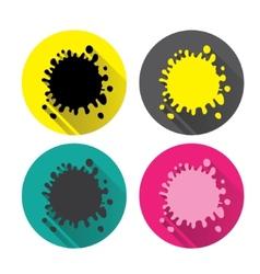 Icons blot Set colorful spots blots splashes vector