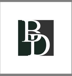 initials letter bd logo vector image