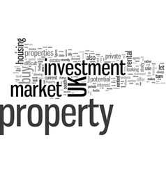 Investment property in uk vector
