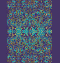 Iridescent floral pattern with pomegranates vector