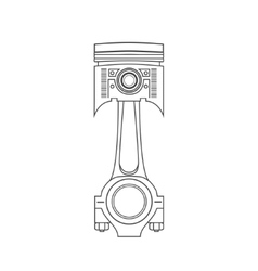 Iron car piston in a drawing style vector