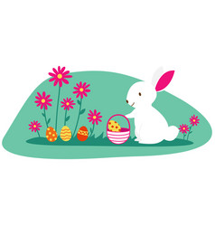 isolated easter design with a bunny rabbit and vector image
