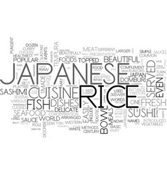 Japanese cuisine text background word cloud vector