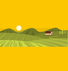 Large field banner flat style vector
