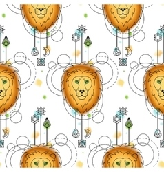 Loin watercolor seamless pattern vector