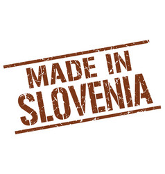 made in slovenia stamp vector image