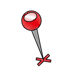 Map pin with a cross marker shape location vector