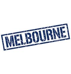 Melbourne blue square stamp vector image