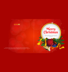 merry christmas greeting card or postcard vector image