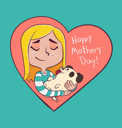 mother of a dog vector image