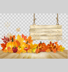 nature autumn background happy thanksgiving vector image
