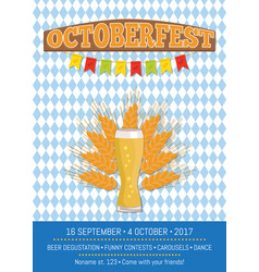 Oktoberfest on squared pattern vector
