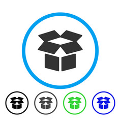 open box rounded icon vector image