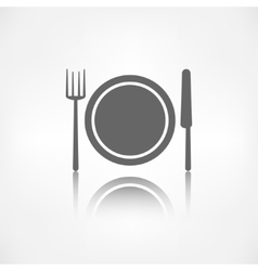 Plate web icon vector image