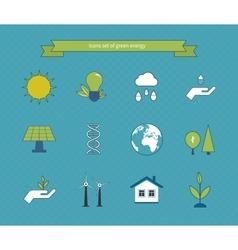 Power energy eco friendly icons vector