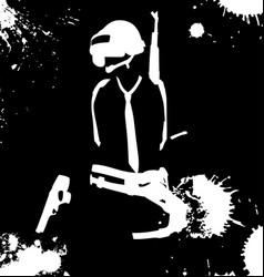 pubg black splash background vector image
