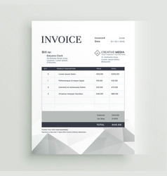 Quotation invoice template design vector