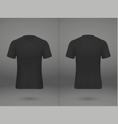 Realistic template soccer jersey vector