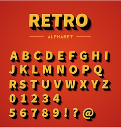 Retro alphabet set vector image