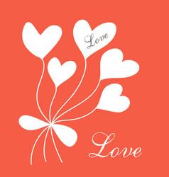 Romantic postcard vector
