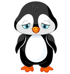 Sad Penguin vector