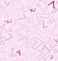 Seamless pattern with number seven vector