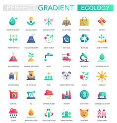 set of trendy flat gradient ecology vector image