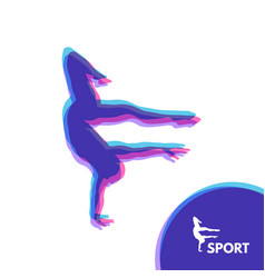 silhouette of a dancer gymnast sport symbol vector image