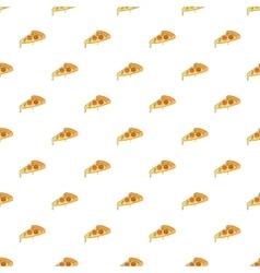 Slice of pizza pattern cartoon style vector