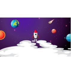 Solar system scene background vector