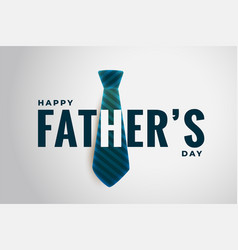 stylish happy fathers day design with realistic vector image