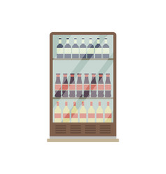 supermarket showcase refrigerator isolated icon vector image