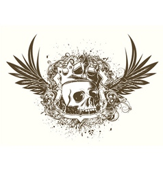 t-shirt design with skull vector image