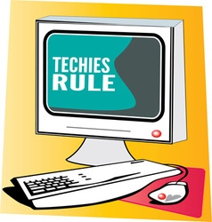 Techies Rule vector image