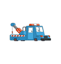 tow truck isolated wrecker for evacuates auto vector image