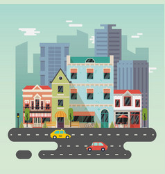 town or city landscape with buildings vector image
