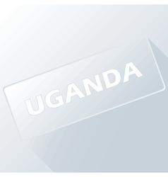 Uganda unique button vector