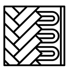 under floor heating icon outline style vector image